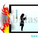 内蒙色钾防火玻璃图片