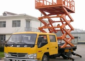 车载式升降机图片