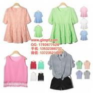 供应十几元便宜的韩版女装批发雪纺蕾丝衫夏季小清新女装上衣厂家批发