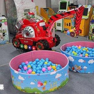 儿童挖掘机投币挖球机新款型摇摇车图片