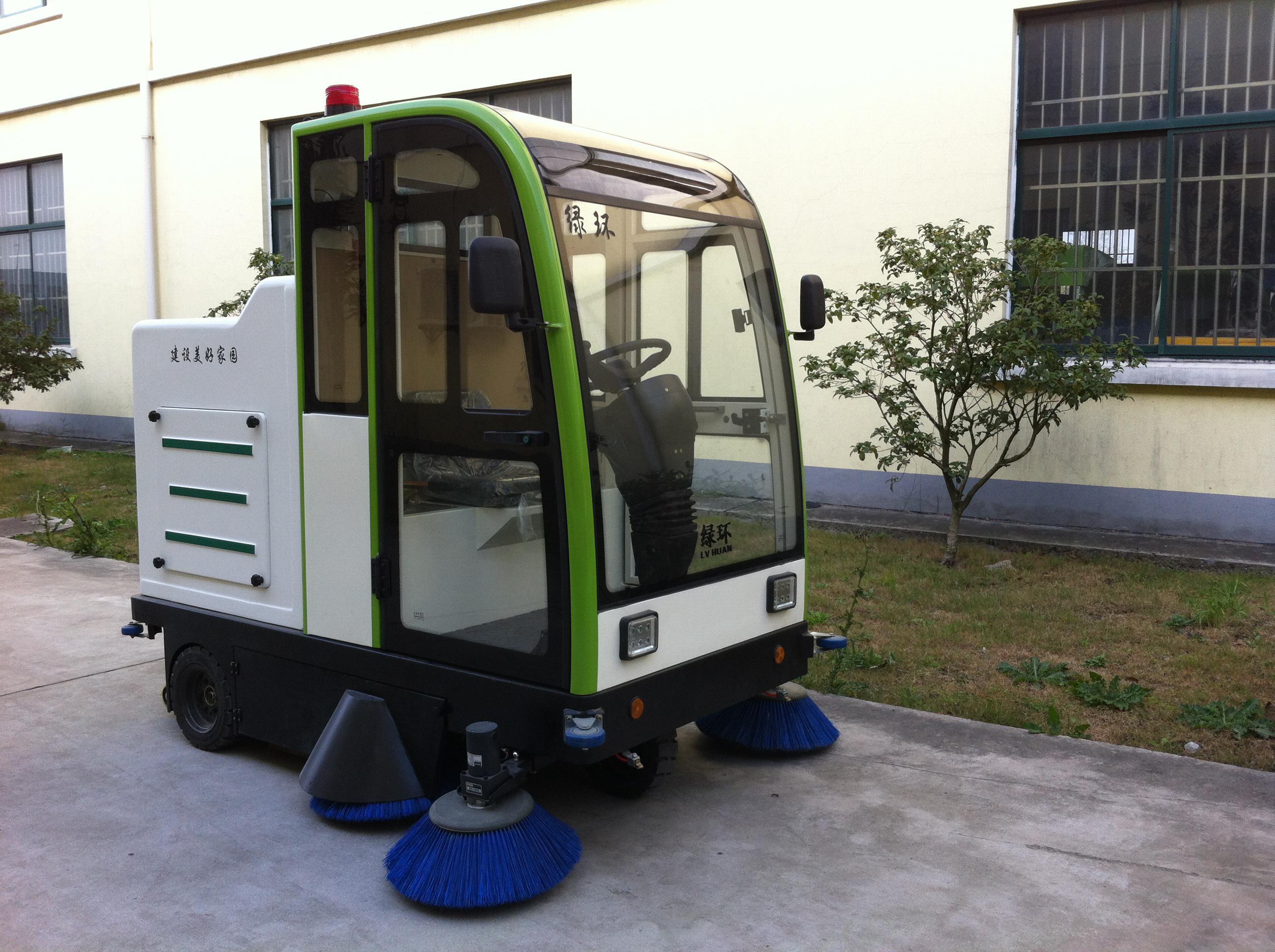 供应鼎洁封闭式扫地机DJ-2000驾驶式清扫车扫地机价格