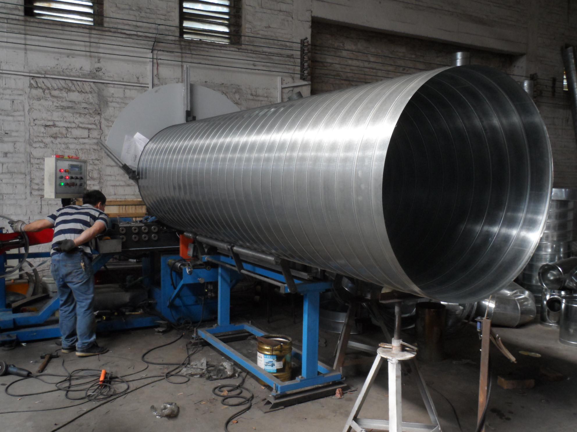 供应江大不锈钢风管制作 镀锌螺旋风管价格