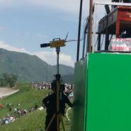 吉林赛马比赛电子计时仪终点摄像图片