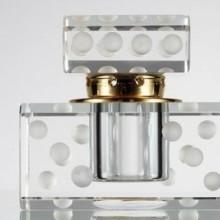 香水瓶,玻璃香水瓶,方形玻璃香水瓶,电化铝拉丝盖香水瓶