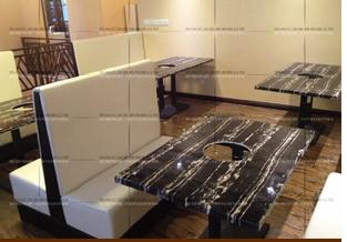 供应郑州咖啡厅复古实木餐桌椅组合沙发 奶茶店桌椅 甜品店沙发 卡座沙发组合