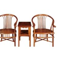 刺猬紫檀扇形椅3件套图片