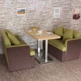 供应用于皮革的郑州咖啡厅卡座沙发 西餐厅沙发桌椅组合 甜品店沙发定制