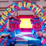 汽车总动员主题百日宴/气球主题宴图片