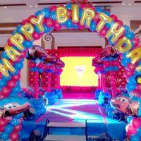汽车总动员主题百日宴/气球主题宴