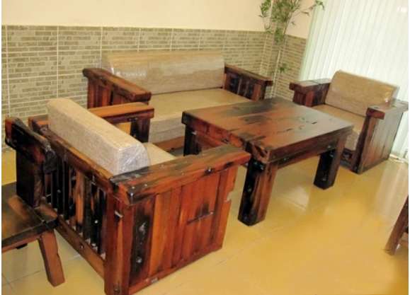 船木沙发 沙发套装 家用船木沙发价格