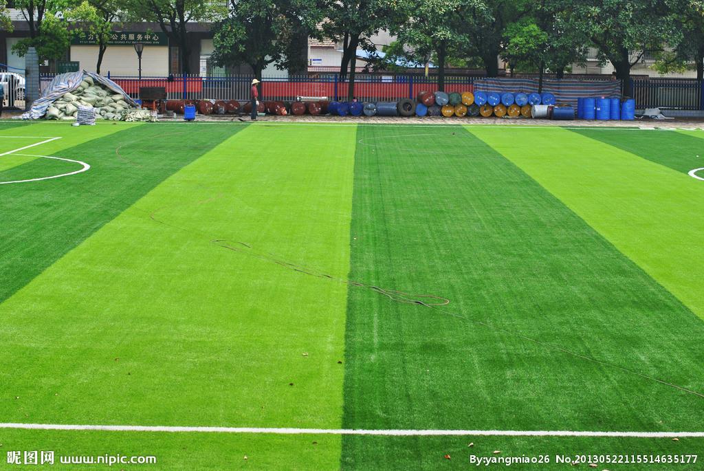 足球场俯视图素材