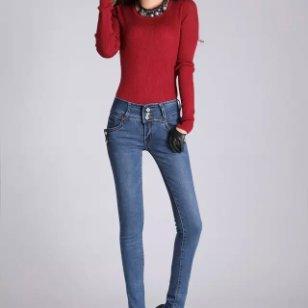 供应女装韩版时尚牛仔裤清货最便宜图片