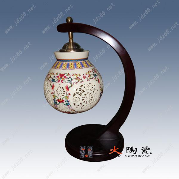 供应用于家居照明 酒店装饰照明 室内灯饰的陶瓷台灯景德镇陶瓷灯具定制厂家