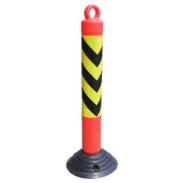 深圳塑料警示柱防护柱分体弹力柱图片