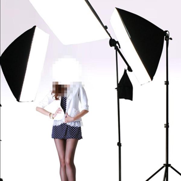供应摄影棚单灯头柔光箱顶架灯三灯套装影楼拍照道具摄影器材