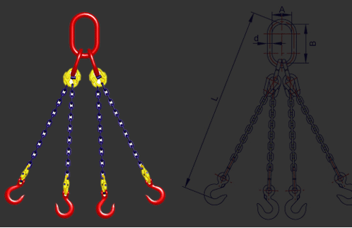 S(6)级四肢图片链条链条|S(6)级索具索具四肢样浦江县巧巧水晶店图片