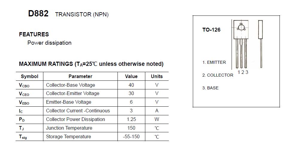 供应用于开关电源|节能灯的d882三极管to-126封装