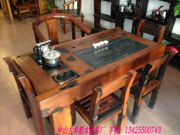 中山老船木茶桌价格