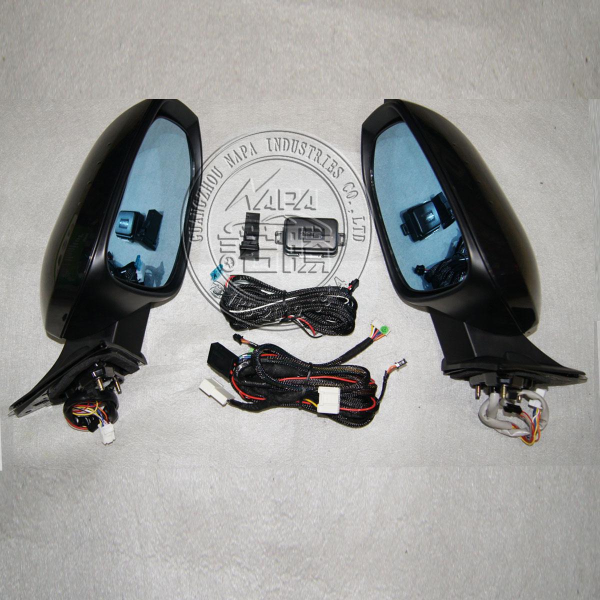 供应15款汉兰达后视镜自动电动折叠总成图片