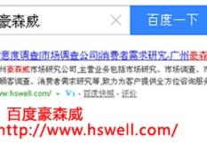 广州豪森威市场调查研究有限公司简介