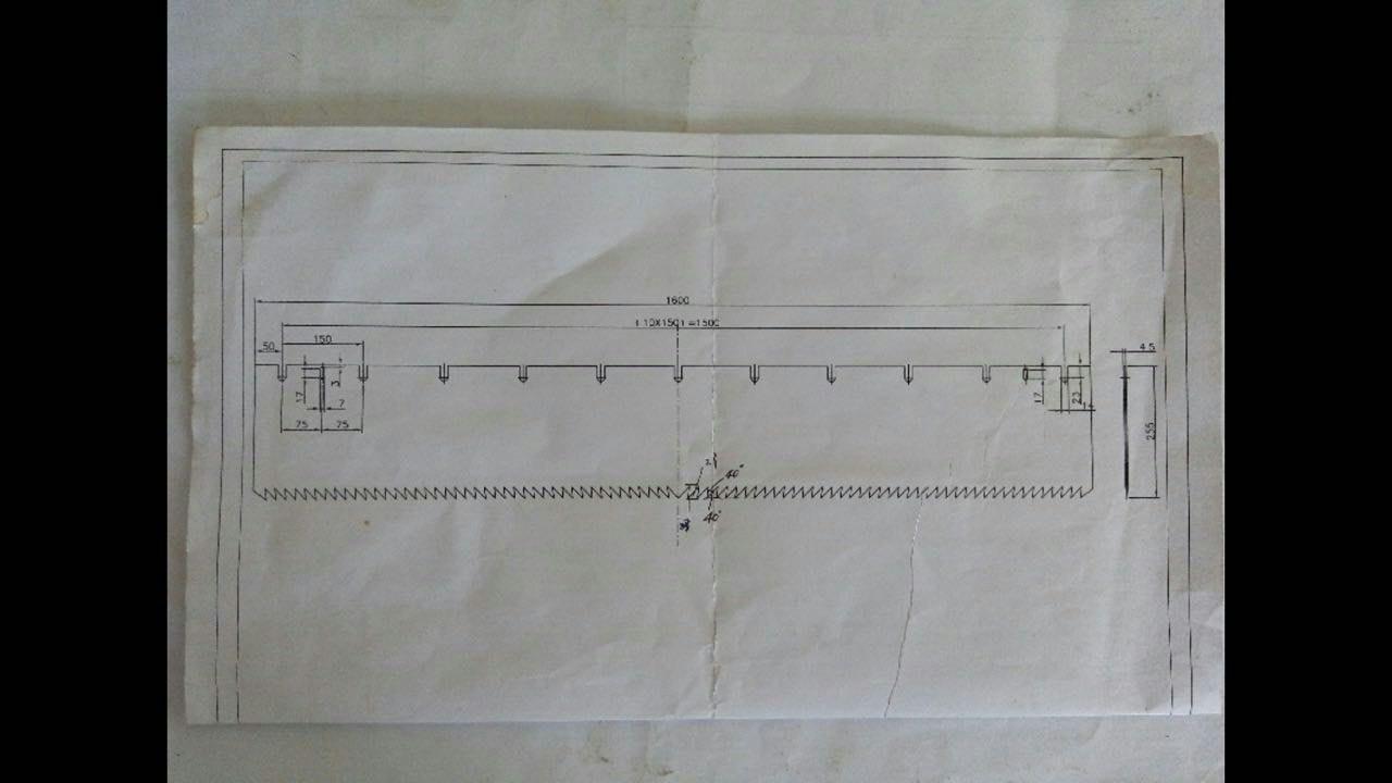 廊坊片铡刀1900*240*6m各类锯片厂家直销