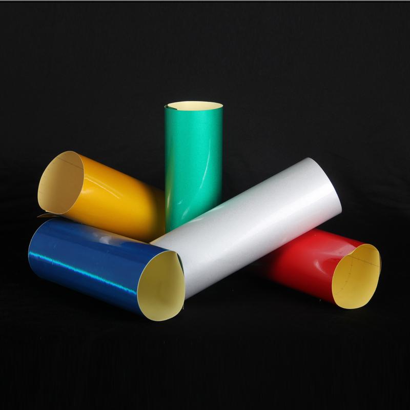供应用于广告牌临时施工牌的可喷绘反光膜(反光晶彩格)TID7200背胶反光喷绘膜