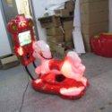供应宝鸡3D马液晶屏儿童投币摇摆机让摇摇车不再单调,让孩子能有6个游戏互动玩耍,投放市场以来,迅速取代传统摇摆机的地位!