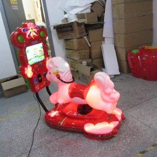 宝鸡3D马液晶屏儿童投币摇摆机图片