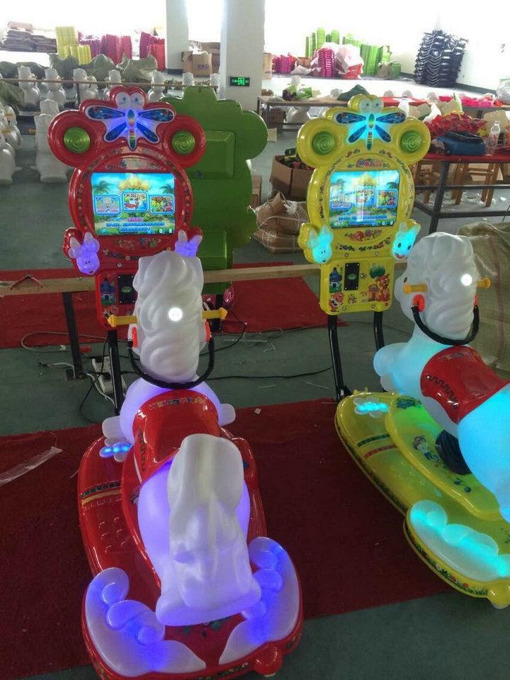邯郸3D马投币游戏摇摇机游乐场设备设计安装