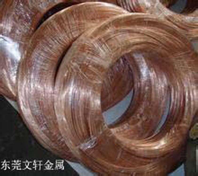 供应用于弹簧 挂具 五金的挂具专用磷铜线厂家 环保3/4硬弹簧专用磷铜线生产厂家