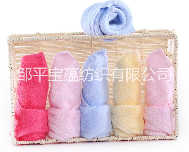 竹纤维毛巾小方巾儿童毛巾擦脸巾销售
