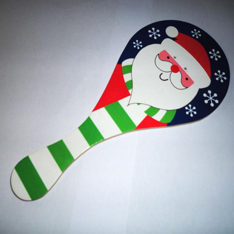 木制圣诞礼物 创意球拍+弹力球图片/木制圣诞礼物 创意球拍+弹力球样板图 (1)