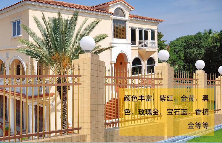6米彩色花纹不锈钢管 豪华别墅大门 欧式别墅庭院不锈钢大门 产品介绍: 6米彩色不锈钢并不都是彩色涂层的钢板,表面上是没有任何的涂料、无任何毒性。它是在银白色的不锈钢表面形成一层非常透明的氧化膜,就是通过这个氧化膜对光的干涉作用而形成一种不同的色彩。 材质: 彩色不锈钢304产品全部精选上等优质304原料(8镍18铬),201系列全部精选优质精炼高铜料,并采用真空离子镀膜、喷涂转印和免焊组装工艺,让彩管和连接件完美组合,具有彩色组装、实用美观、牢固耐用、安装简单的独特亮点。 彩色不锈钢的问世,推动了行业