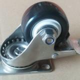 2.5寸中型不锈钢PU刹车轮 广东生产厂家直销
