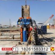 供应工字钢ms工法大型工程用拔桩机 北奕机械h型钢液压m.图片