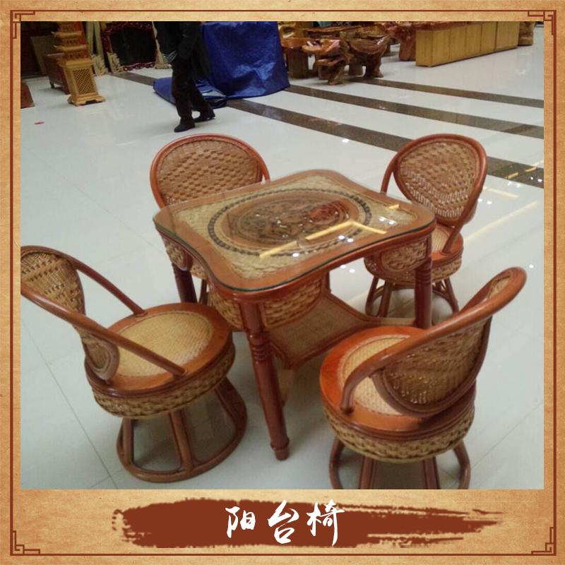 供应阳台椅生产厂家 藤木阳台椅定制 茶台椅 客厅藤椅藤艺系列