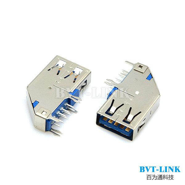 深圳USB3.0 侧插无卷边DIP价格 深圳USB3.0 侧插无卷边DIPU
