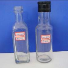 供应用于食用油外包装的100ml方形圆形橄榄油玻璃瓶批发
