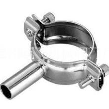 供应不锈钢管子夹,卫生级不锈钢管子夹,管支架,管夹 食品级带底座管子夹批发