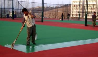 供应用于地坪施工的学校篮球场场地施工 彩色篮球场|永久性密封,坚硬耐磨
