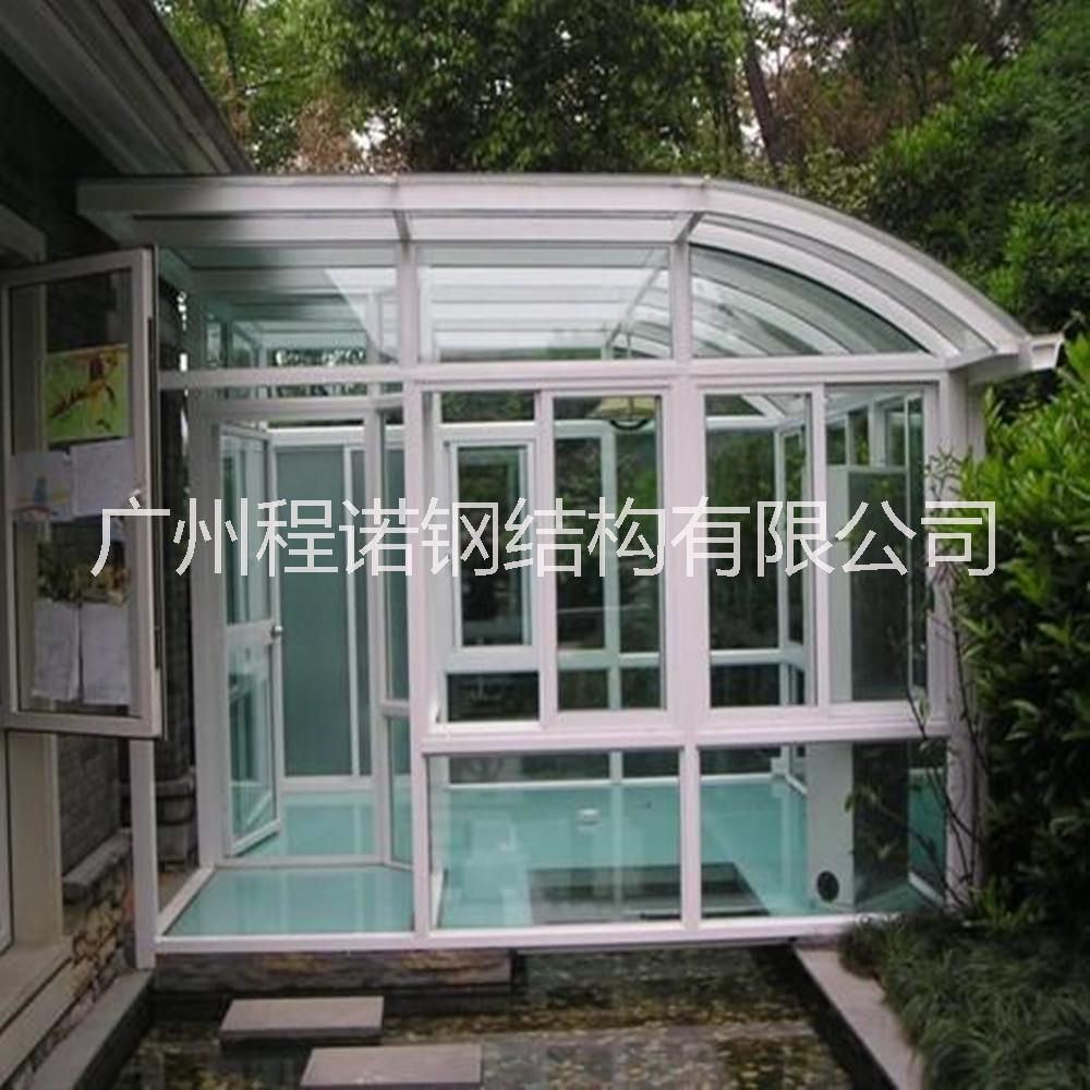供应钢结构阳光房 玻璃房 顶楼钢结构 专业生产玻璃房钢结构材料 承接