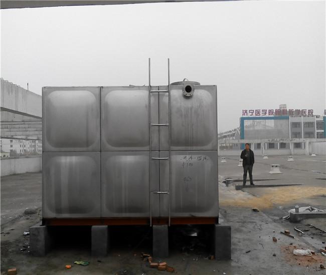 青海白钢消防水箱_白钢保温水箱
