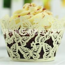 供应深圳蛋糕纸围边激光镂空,烘焙纸托围边厂家,婚庆蛋糕装饰纸杯图片