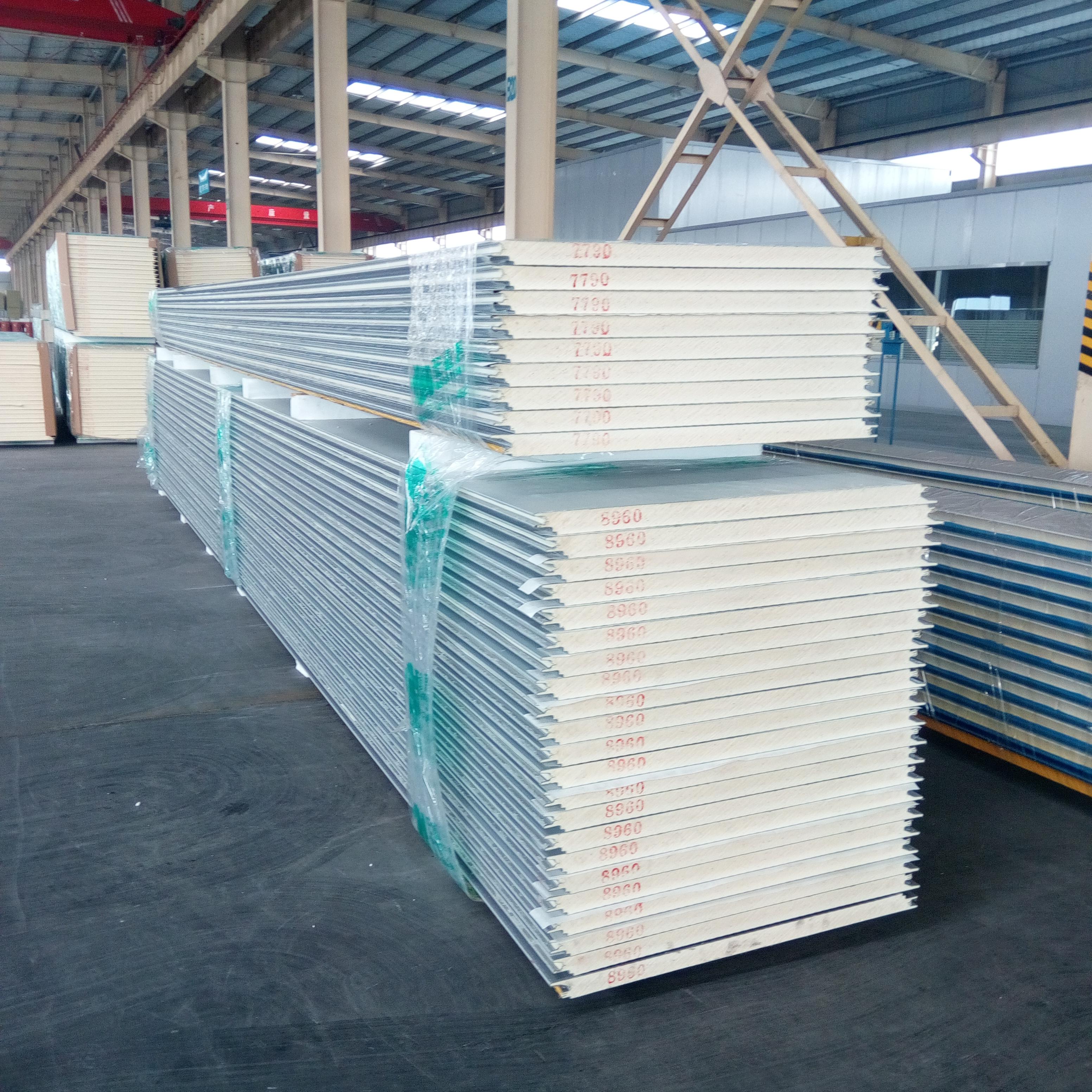供应用于现代厂房|办公楼|钢结构房屋的青岛高性价比PU聚氨酯复合板