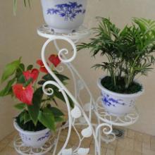 供应用于装饰美观的双层铁艺花架供应|双层花架批发
