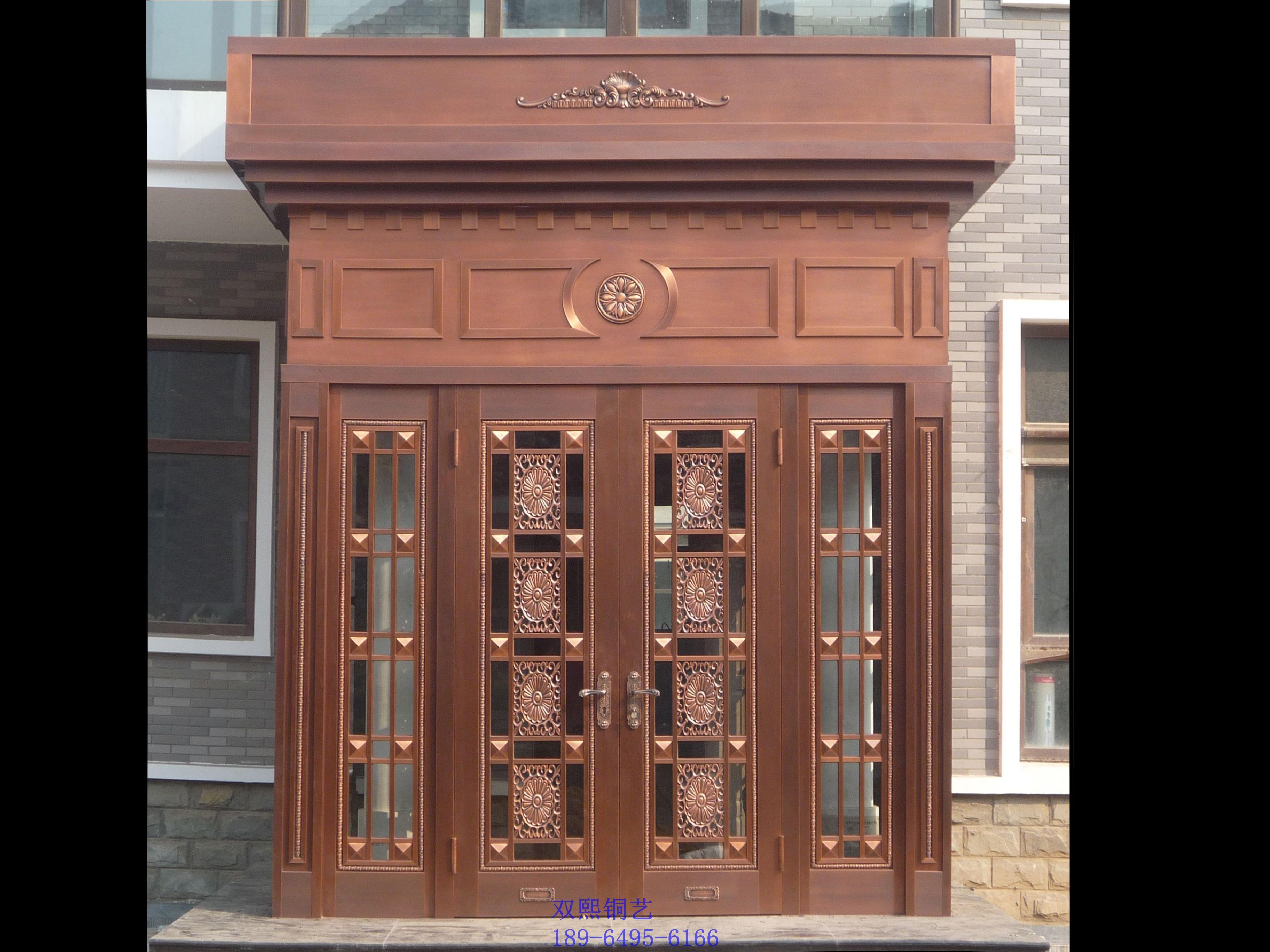 铜门焊接样板|图片定做铜门图|管件定做效果图铜门用别墅水不锈钢定做免图片