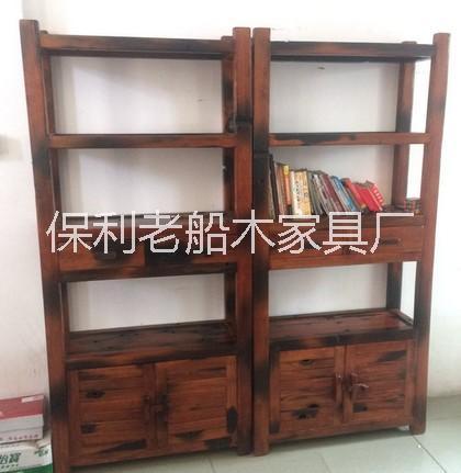 老船木博古架中式书架文件柜实木价格