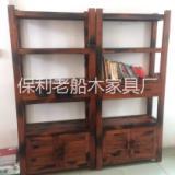 供应老船木博古架中式书架文件柜实木