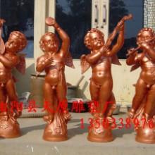 供应玻璃钢雕塑小孩小天使雕塑树脂工艺品家具摆件批发