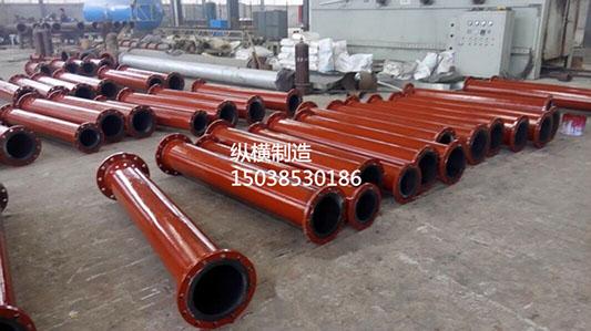 供应用于碳化塔管道 |泥浆输送衬胶|污水处理管道的电厂专用耐磨衬胶管道